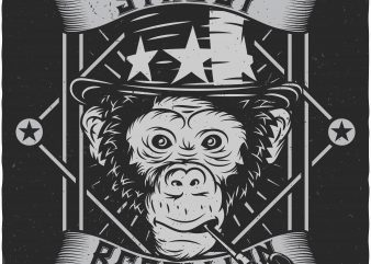 Monkey Street t shirt designs for sale