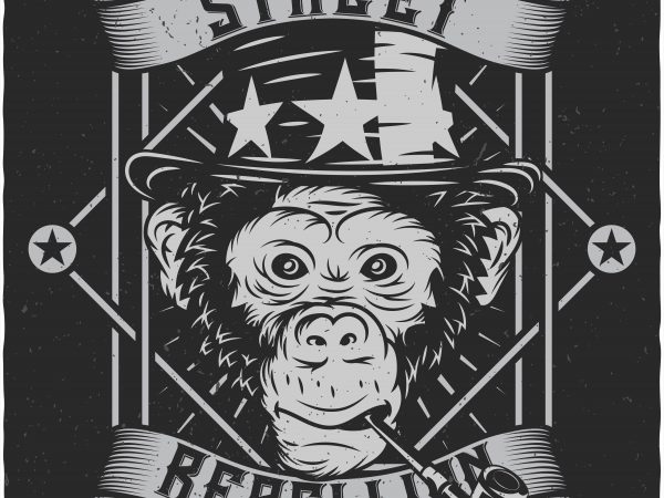 Monkey Street buy t shirt design