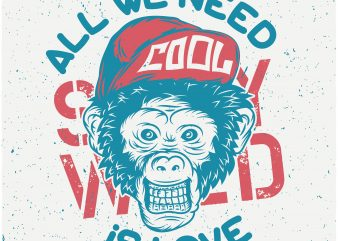 Monkey Cool buy t shirt design