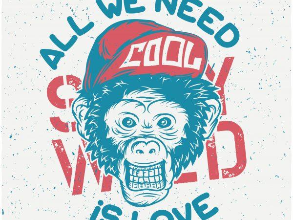 Monkey Cool buy t shirt design