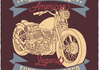 Motorcycle buy t shirt design