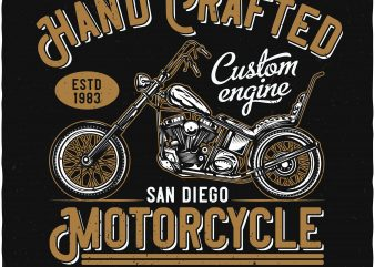 Hand crafted motorcycle graphic t shirt