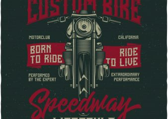 Custom Bike t shirt vector file