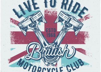 British motorcycles t shirt template