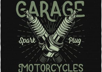 Champion garage t shirt vector file
