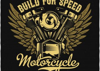 Motorcycle engine t shirt designs for sale
