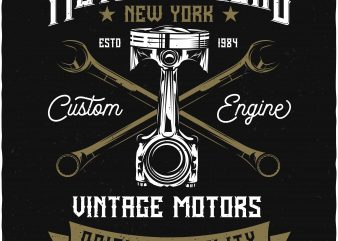 Vintage motors t shirt vector art