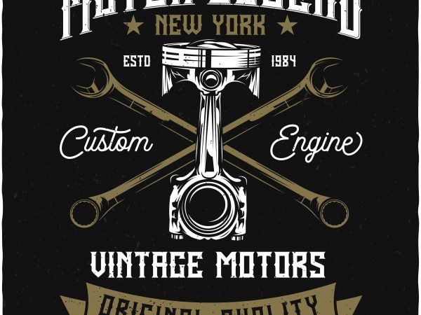 Vintage motors t shirt vector art