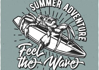 Feel the wave t shirt graphic design