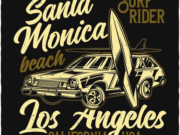 Surf rider t shirt template vector