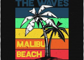 Ride the waves t shirt design online