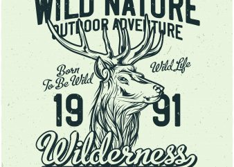 Wilderness t shirt design for sale