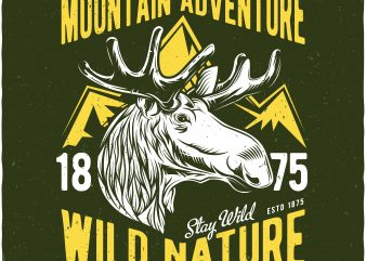 Wild nature t shirt design for sale