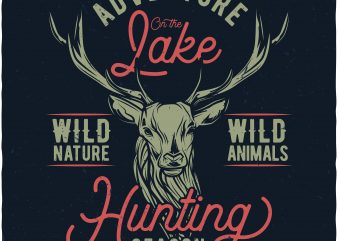 Hunting season graphic t shirt