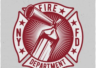 Fire dept t shirt graphic design