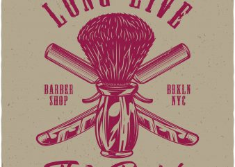 Long live the beard t shirt vector graphic