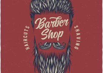 Barbershop buy t shirt design