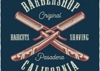 Barbershop buy t shirt design