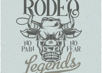 Wild west rodeo t shirt design for sale