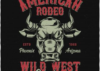 American rodeo buy t shirt design