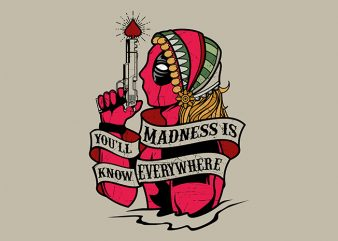 king of madness t shirt vector