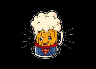 superbeer t shirt vector