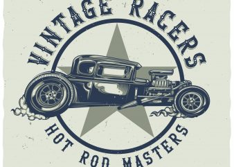 Hot rod masters graphic t shirt