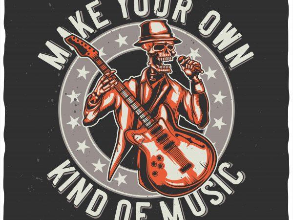 Kind of music t shirt vector art