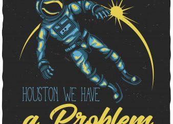 Astronaut t shirt vector