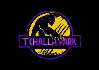 t'challa park t shirt designs for sale