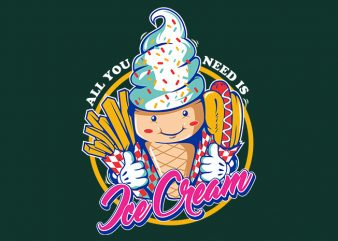 ice cream buy t shirt design