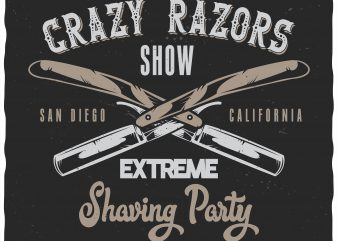 Extreme shaving party vector clipart