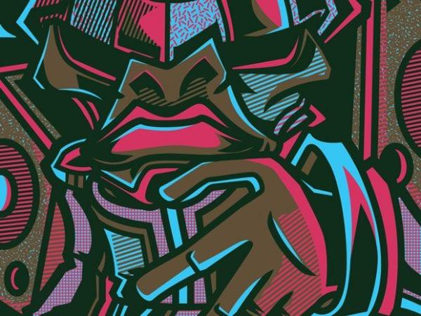 Drops the Beats t shirt vector illustration