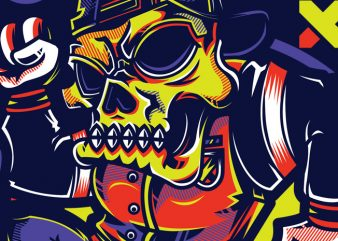 SWG Urban Skull part 2 buy t shirt design
