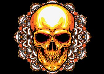 Mandala Skull t shirt designs for sale
