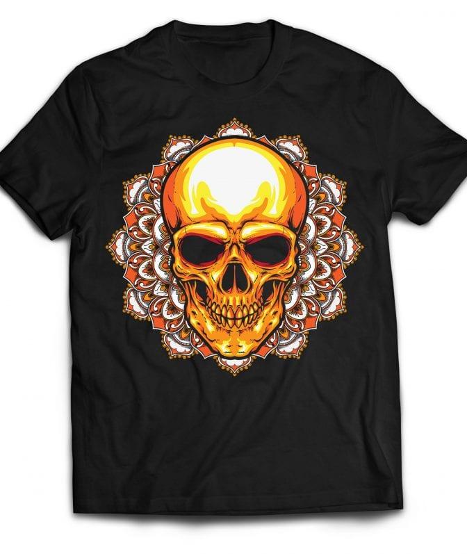 Mandala Skull buy t shirt design