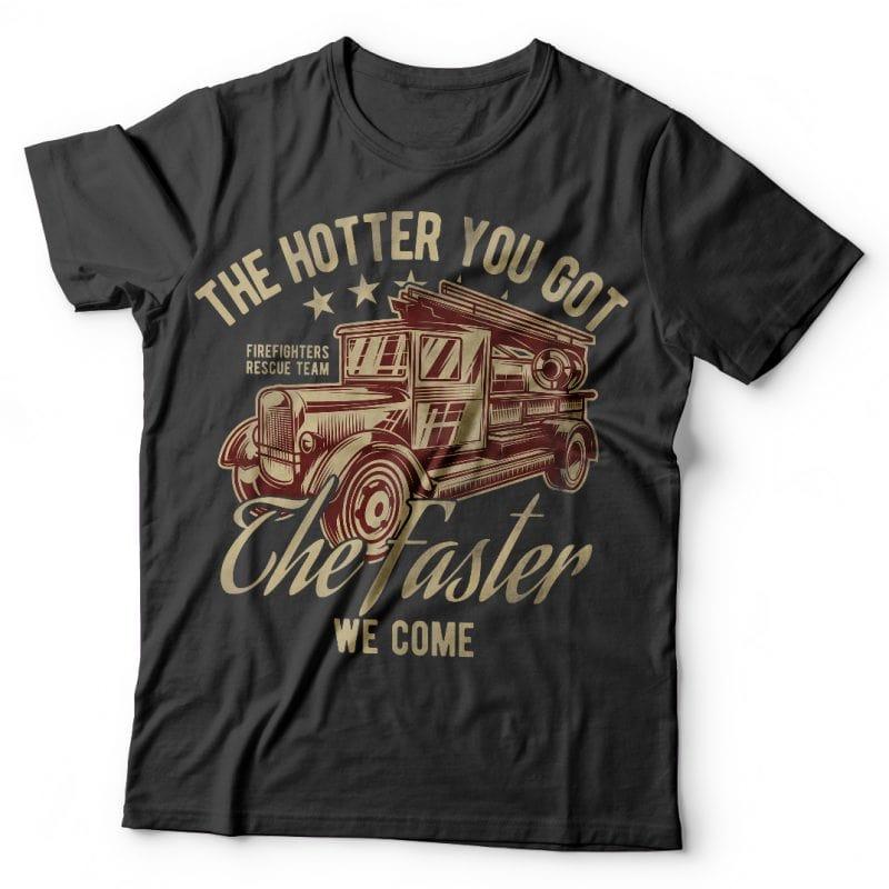 Firetruck buy t shirt design