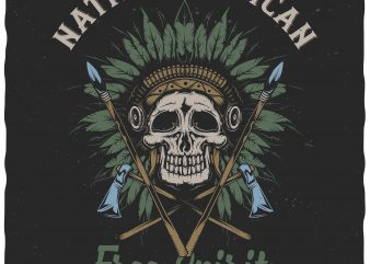 Native american buy t shirt design