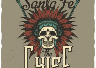 Santa Fe Chief buy t shirt design