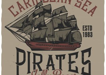 Caribbean pirates buy t shirt design