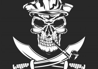 Pirate sign t shirt illustration