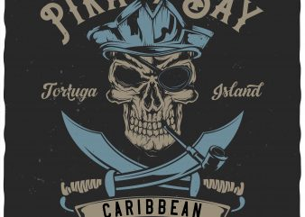 Pirate Bay t shirt illustration