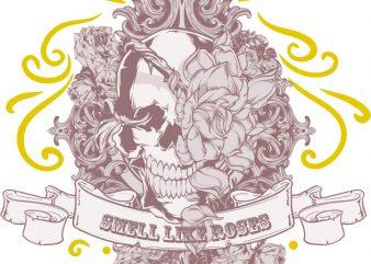Smell like roses buy t shirt design