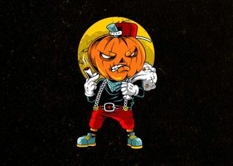 pumpkin boy t shirt illustration