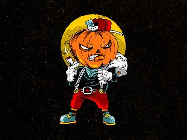 pumpkin boy t shirt illustration