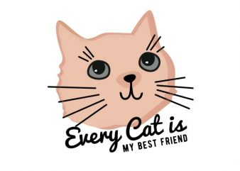 Cat is My Best Friend T-shirt Design