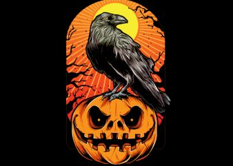 Crow Halloween t shirt vector file