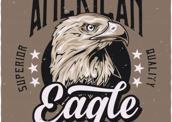 American eagle t shirt vector
