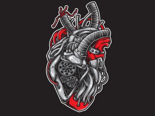 Heart Machine buy t shirt design
