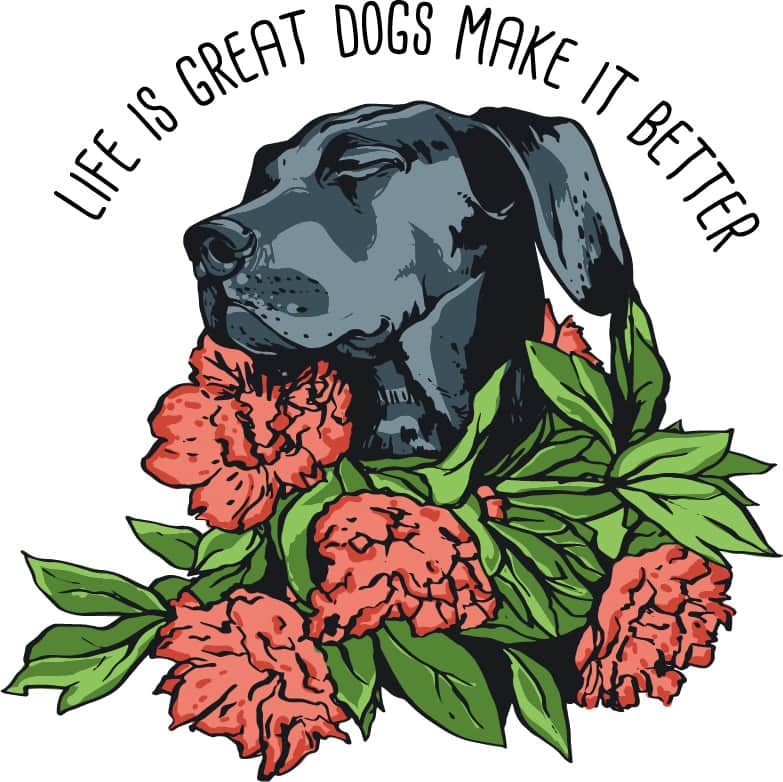 Life is great dogs make it better buy t shirt design